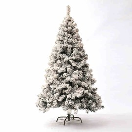 Multi-size Snow Spray Flocking Christmas Simulation Cedar Tree