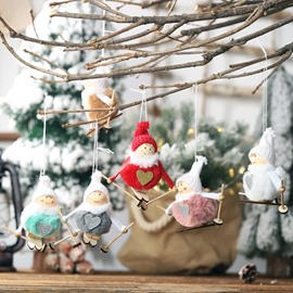 Fluffy Snow Doll Pendant Creative Christmas Tree Decorations
