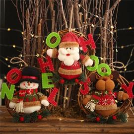 Christmas Decoration Garland Cartoon Santa Claus Snowman Deer Christmas Tree Ornaments