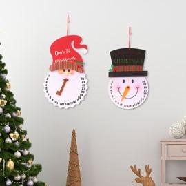 Cartoon Snowman/Santa Claus Advent Calendar for Holidays Christmas Decoration