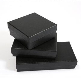 Classic 3-size Black Specialty Paper Gift Box