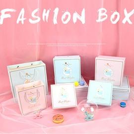 Dreamy Unicorn Magic Stick Series 3-size Pink and Blue GIft Bag and Box