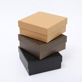 Classic Popular 3-size Black Hardboard Gift Box