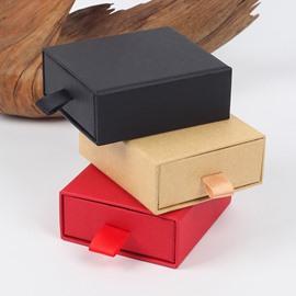 Drawer-style Original Small Plain 3-color Hardboard Gift Box