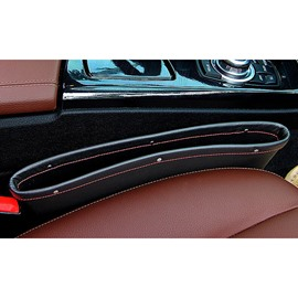 Creative Design And Leather Material Car Side Organzier