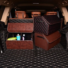 Refinement And PU Leather Material Beautiful Practical Trunk Organizer