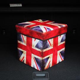 Cool British Flag Pattern Design High Capacity Cube Car Trunk Organizer