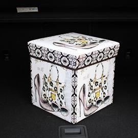 High Capacity Cube Design With Fashion Decoration Pattern Car Trunk Organizer