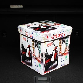 High Capacity Cube Design With Motorcycle Pattern Car Trunk Organizer