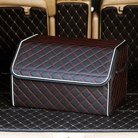 New High-Grade Leather Material Medium Size Enough Capacity Car Trunk Organizer