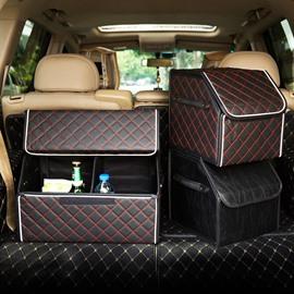 Small Size High-Grade Leather Durable Enough Capacity Car Trunk Organizer