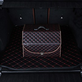 High Grade Leather Material Enough Capacity Durable Foldable Car Trunk Organizer