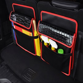 Durable High Grade Leather Material Single Car Backseat Organizer