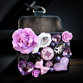 Super Beautiful Small Floral Model Design Popular Car Outlet Storage Box Organizer