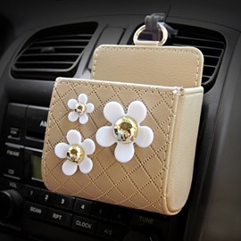 Exquisite High-Grade Beautiful Flowers Popular Car Outlet Organizer