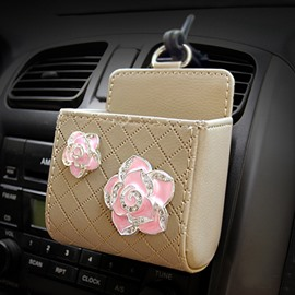 Exquisite High Grade Two Beautiful Flowers Car Outlet Organizer