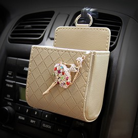 Textured High-Grade Luxury Elegant Ballet Girl Decorative Car Outlet Organizer