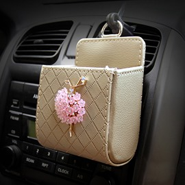 Textured High-Grade Luxury Elegant Beautiful Ballet Girl Decorative Car Outlet Organizer