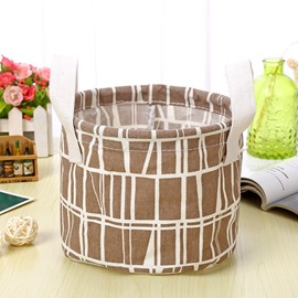 Water-Proof Convenient Thick Polyester Cotton Brown Simple Style Car Organizer Storage Box
