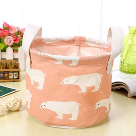 Water-Proof Polyester Cotton Polar Bear Car Organizer Convenient Storage Box