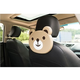 Cute Cartoon Themed Bear Face Seat Back Drink Holder For Kids (Single)