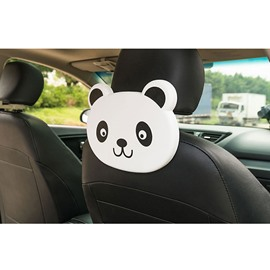 Cute Cartoon Themed Panda Face Seat Back Drink Holder For Kids (Single)