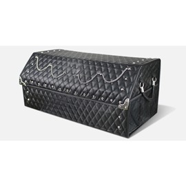 Extended Edition Fashion Punk Folding Big Storage Space Rivet Leather Car Trunk Organizer