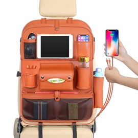 Car with 3 USB Charging Cables and Dining Rack Back Storage Bag