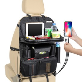 Car with 3 USB Charging Cables Back Storage Bag