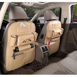 Microfiber Leather Auto Storage Seat Back Bag One-Pair Car Backseat Organizer