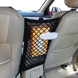 Simple Design And Enough Capacity Nylon Mesh Material Car Chair-Back Organizer
