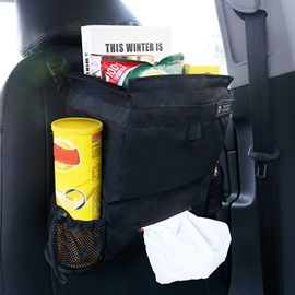 Classic Black Medium High Capacity Hanging Car Backseat Organizer