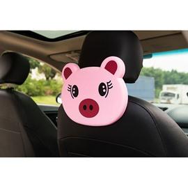 Cute Cartoon Themed Piggy Face Seat Back Drink Holder For Kids (Single)