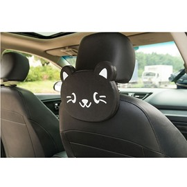 Cute Cartoon Themed Kitty Face Seat Back Drink Holder For Kids (Single)
