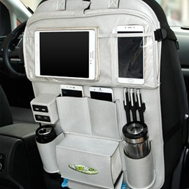 Car with 4 USB Charging Ports and Dining Rack Back Storage Bag