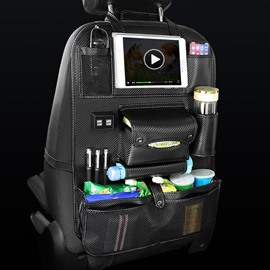 Car with 4 USB Charging Ports Back Storage Bag
