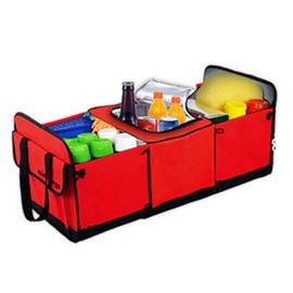 Classic And Magic Red Design High Capacity Oxford Cloth Car Trunk Organizer