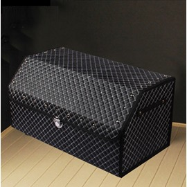Easy Foldable Refinement And Beautiful Leather Trunk Organizer