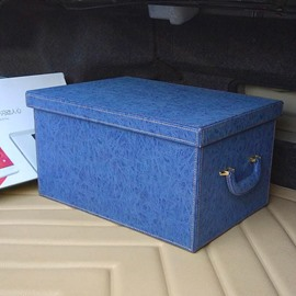 Solid Charming Design And Leather Material Pure Color Car Trunk Organizer