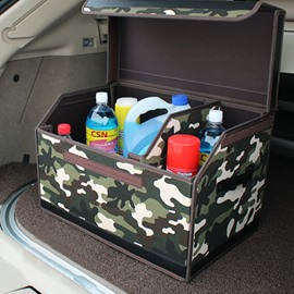 Camouflage Army Green Oxford And Leather Material Car Organizer
