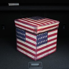 High Capacity Cube Design With American Flag Pattern Car Trunk Organizer