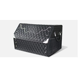 Fashion Punk Folding Big Storage Space Rivet Leather Car Trunk Organizer
