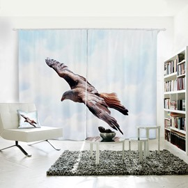 Vivid Flying Eagle Pattern 3D Printed Polyester Curtain