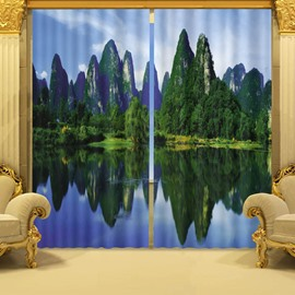 Nature Landscape of Guilin Printing 3D Curtain