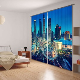 3D Urban Skycrapers Noise Reducing&Energy Saving Curtain