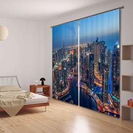 Daybreak City Scenery 3D Blackout Curtain