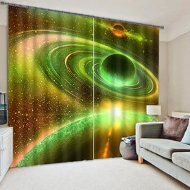 3D Stunning Vast Galaxy and Universe Printed Natural Scenery Custom Living Room Curtain
