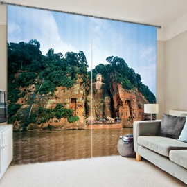 3D Great Scenery Print Quality Polyester Curtain