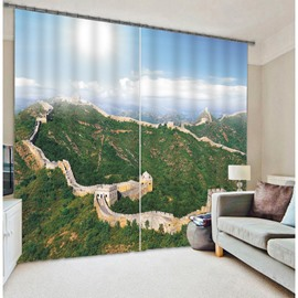 3D Great Wall Print Energy Saving Curtain