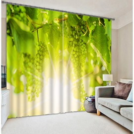 3D Plantation Pattern Energy Saving Polyester Curtain